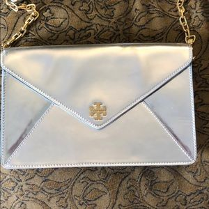 Authentic Tory Burch Silver and Gold Purse